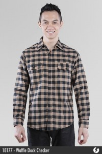 Kemeja Katun - Waffle Dock Checker Cotton Shirt - 18177