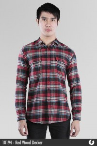 Kemeja Flannel - Red Wood Decker - 18194