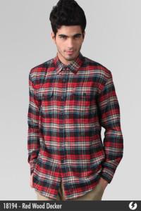 Flannel Shirt - Red Wood Decker - 18194