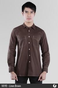Linen Shirt - Linen Brown - 18192