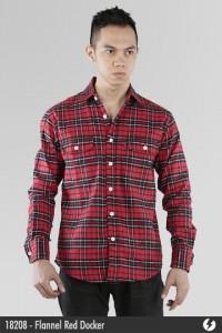 Kemeja Flannel - Flannel Red Docker - 18208