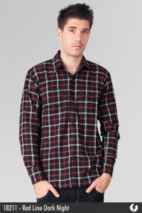 Kemeja Flannel - Red Line Dark Night - 18211