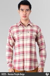 Flannel Shirt - Vernice Purple Beige - 18225