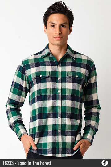 Kemeja Flannel - Sand In The Forest - 18233