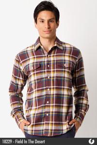 Flannel Shirt - Field In The Desert - 18229