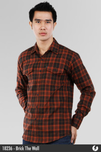 Flannel Shirt - Brick The Wall - 18236
