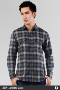 Flannel Shirt - Avocado Grass - 18239