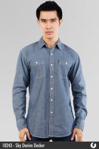 Chambray Denim Shirt - Sky Denim Decker - 18243