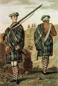 Highland Soldier wearing kilt