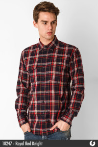 Flannel Shirt - Royal Red Knight - 18247