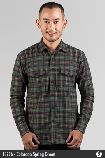 Kemeja Flanel - Colorado Spring Green - 18296