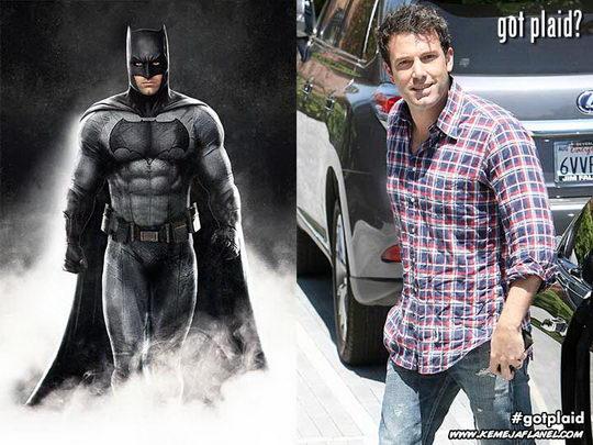 Ben Affleck, Batman memakai kemeja flanel
