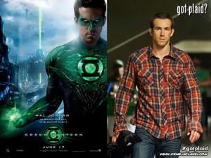 Ryan Reynolds, Green Lantern memakai kemeja flanel