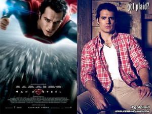 Henry Cavill, Superman memakai kemeja flanel