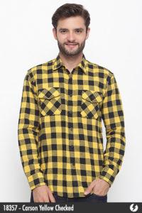 Kemeja Pria - Kemeja Flanel - Carson Yellow Checked - 18357