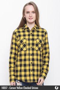 Kemeja Flanel Unisex - Carson Yellow Checked - 18357