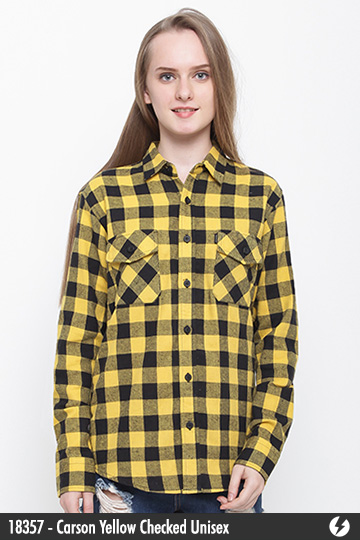 Kemeja Flanel Unisex - Carson Yellow Checked - 18357