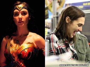 Wonder Woman - Gal Gadot memakai Kemeja Flanel