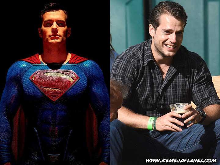 Superman - Henry Cavill memakai Kemeja Flanel