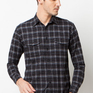 Cortland Black Plaid
