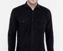Flannel Plain Black