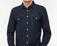 Chambray Blue Black