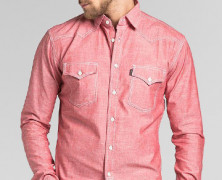 TRVS Chambray LS Salmon