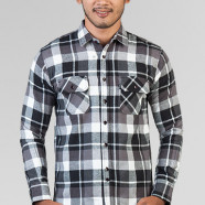 TRVS Flanel V Black White