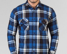 TRVS Flanel V Blue Black