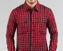 RCWD Cotton Red Black Checked
