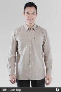 Linen Shirt - Linen Beige - 18184