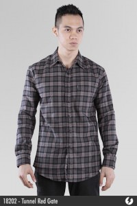 Kemeja Flannel - Tunnel Red Gate - 18202